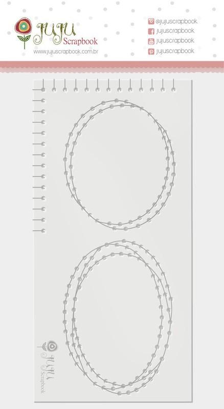 Régua de Costura Nosso Herói Elipse - Juju Scrapbook