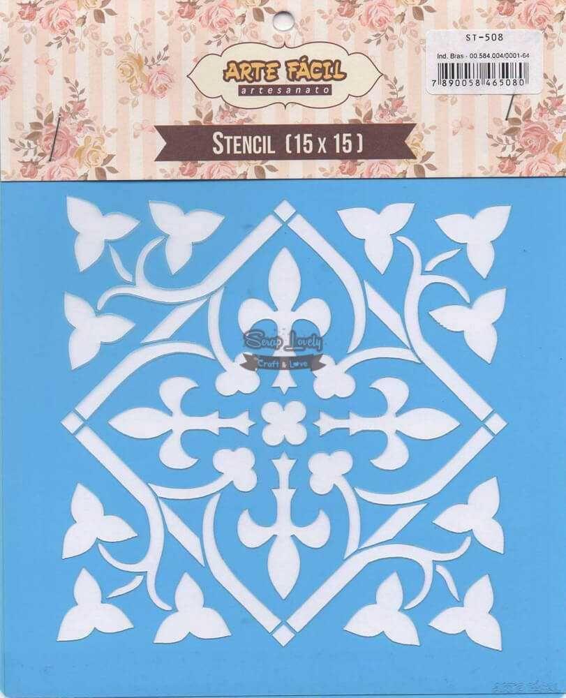 Stencil Azulejo Português 05 ST-508 - Arte Fácil