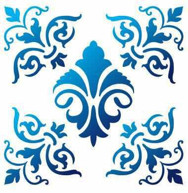 Stencil Azulejo Português 06 ST-551 - Arte Fácil