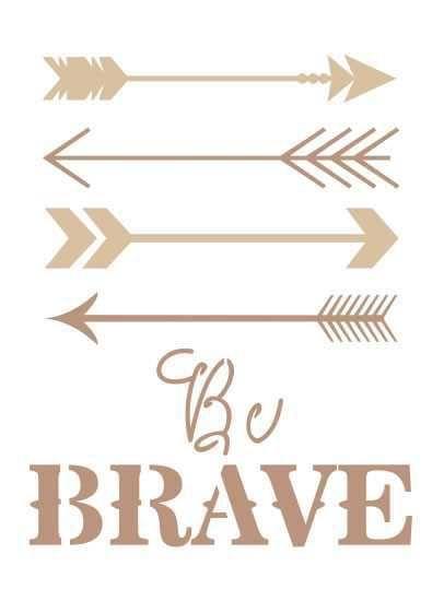 Stencil Be Brave Setas ST-748 - Arte Fácil