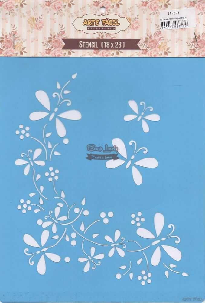 Stencil Borboletas 02 ST-703 - Arte Fácil