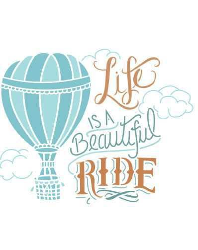 Stencil Life is a Beautiful Ride ST-569 - Arte Fácil