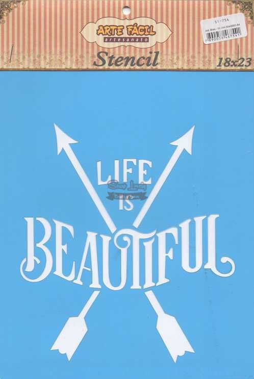 Stencil Life is Beautiful ST-754 - Arte Fácil