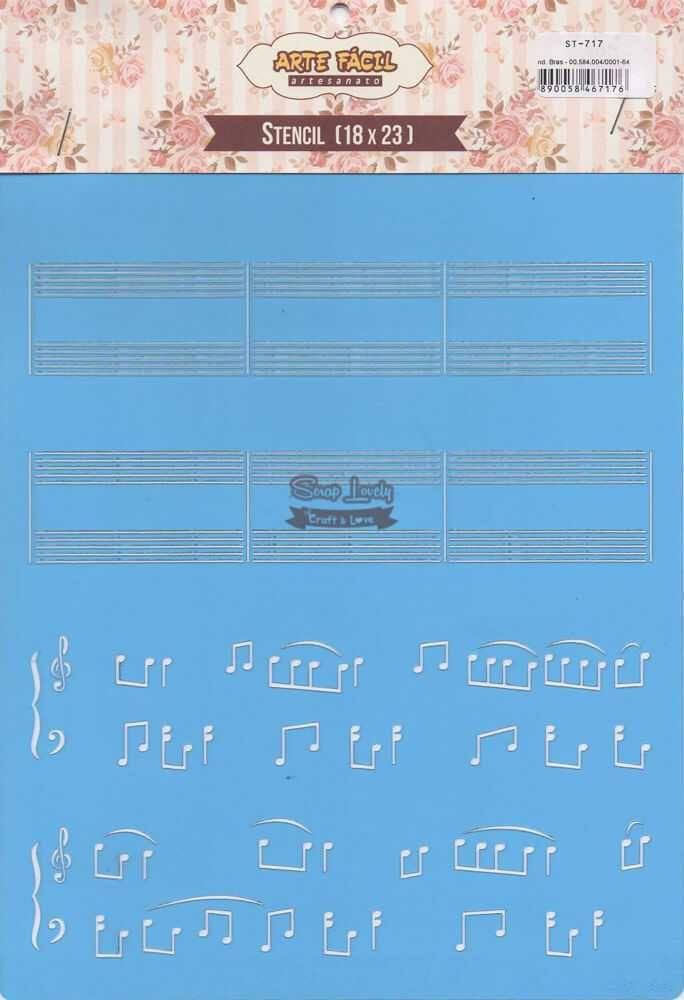 Stencil Partitura ST-717 - Arte Fácil