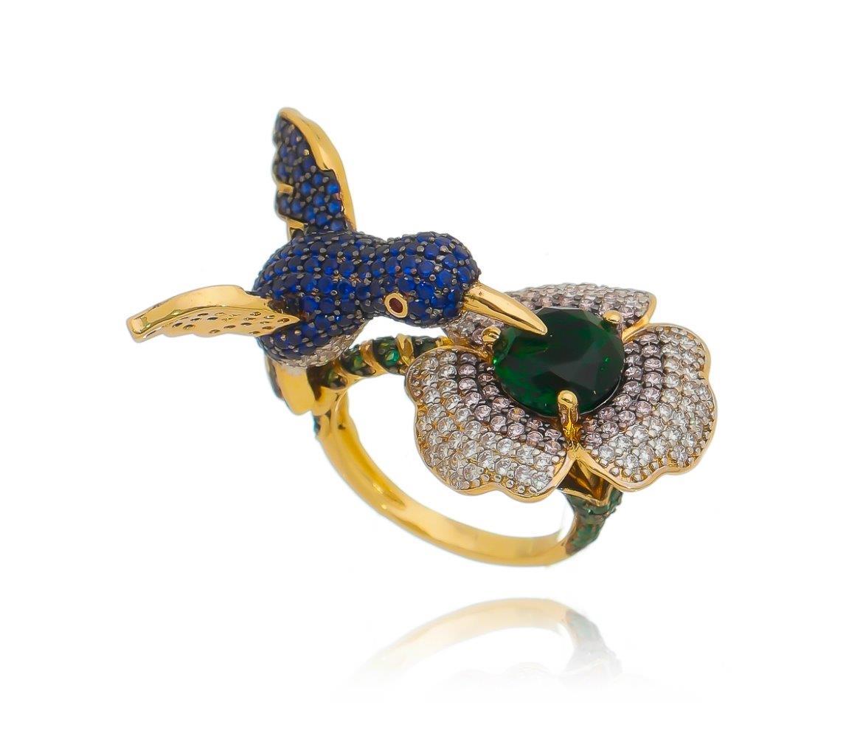 Anel beija-flor micro-zircônia