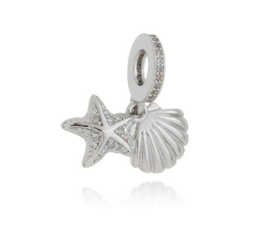 Berloque estrela do mar + concha