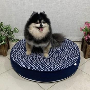 Almofada Futon Pet Redonda - Imperial Marinho - Tam M