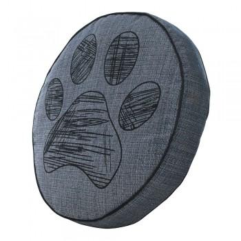 Almofada Futon Pet Redonda - Jacquard Jeans - Pata - Tam P