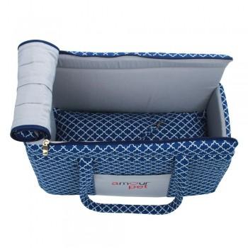 Bolsa de Transporte Fashion Pet - Imperial Azul e Cinza - Tam Único