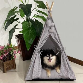 Cabana Camping Pet - Cinza Poá - Tam Único