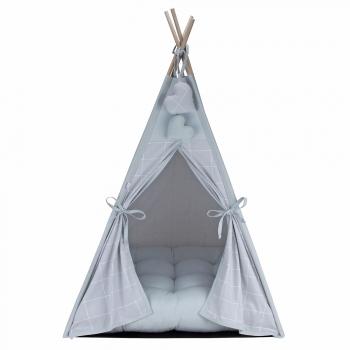 Cabana para Pet Camping - Grid Prata - Amour Pet