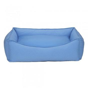 Cama Retangular Carinhosa - Azul - Tam P