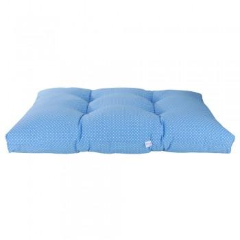 Colchonete Futon Pet Retangular - Azul Poá - Tam M