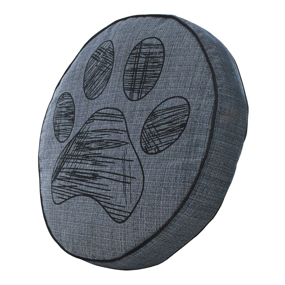 Almofada Futon Pet Redonda - Jacquard Jeans - Pata - Tam M