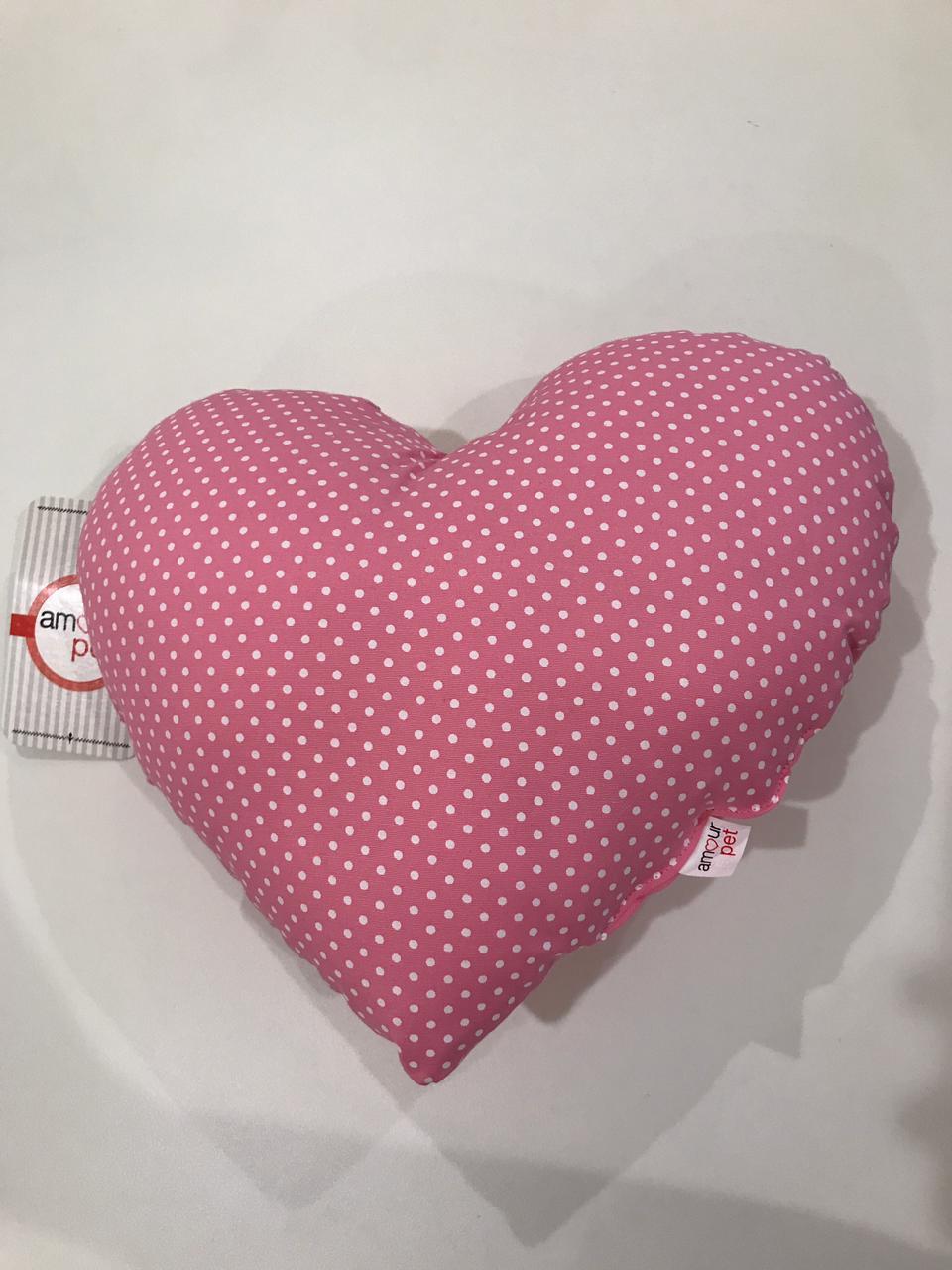 Almofada Pet Coração - Rosa Poá