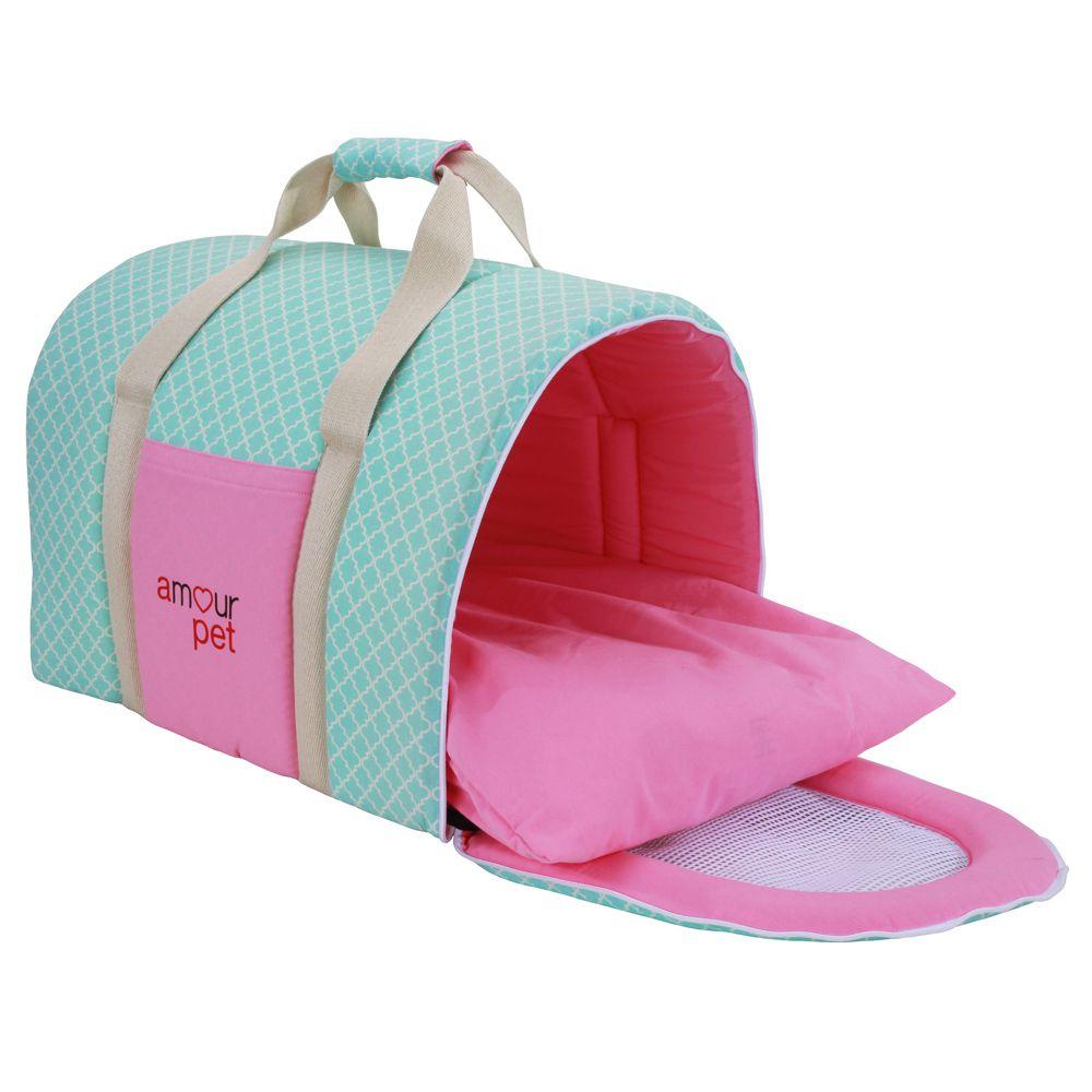 Bolsa De Transporte Conforto Pet - Imperial Rosa e Tifany