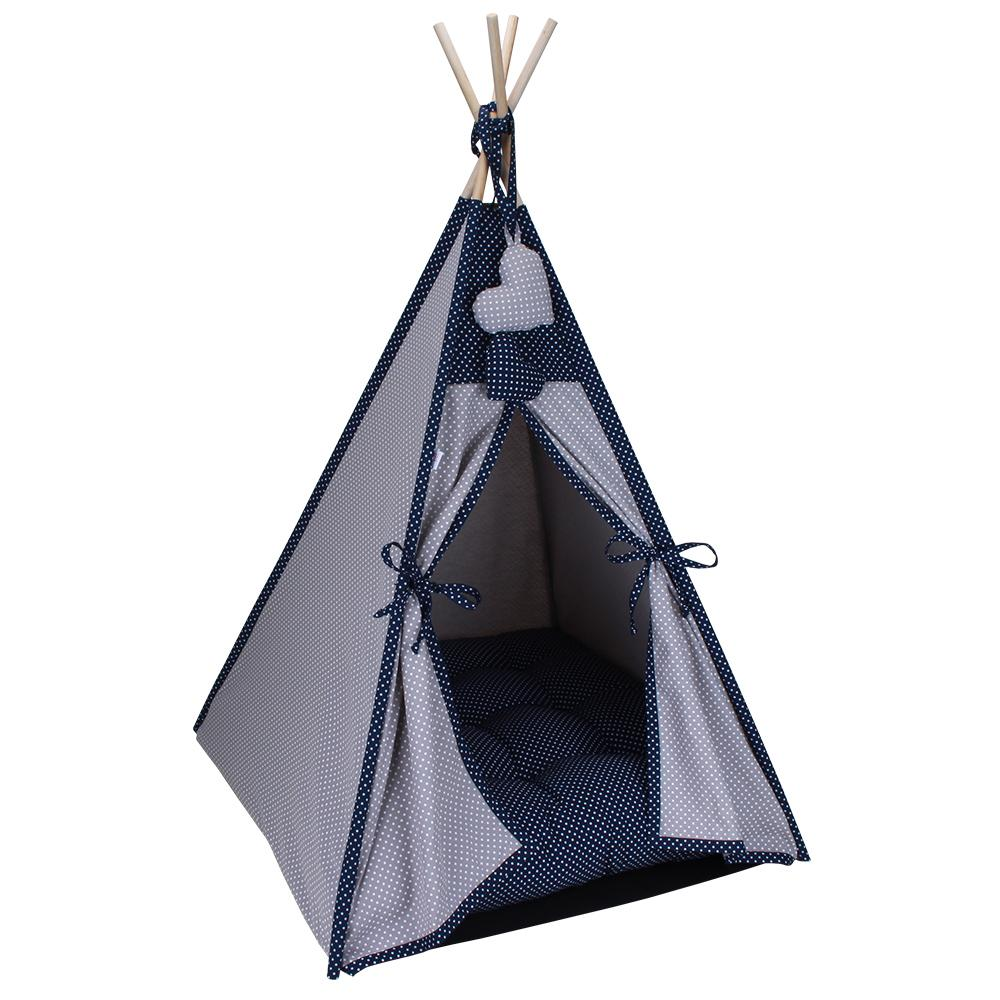 Cabana Camping Pet - Cinza e Marinho Poá - Tam Único