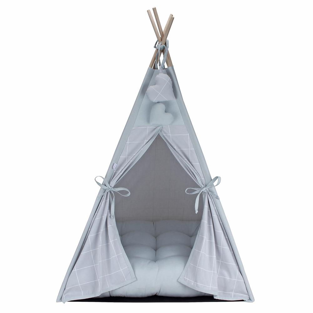 Cabana para Pet Camping - Grid Prata - Tam Único