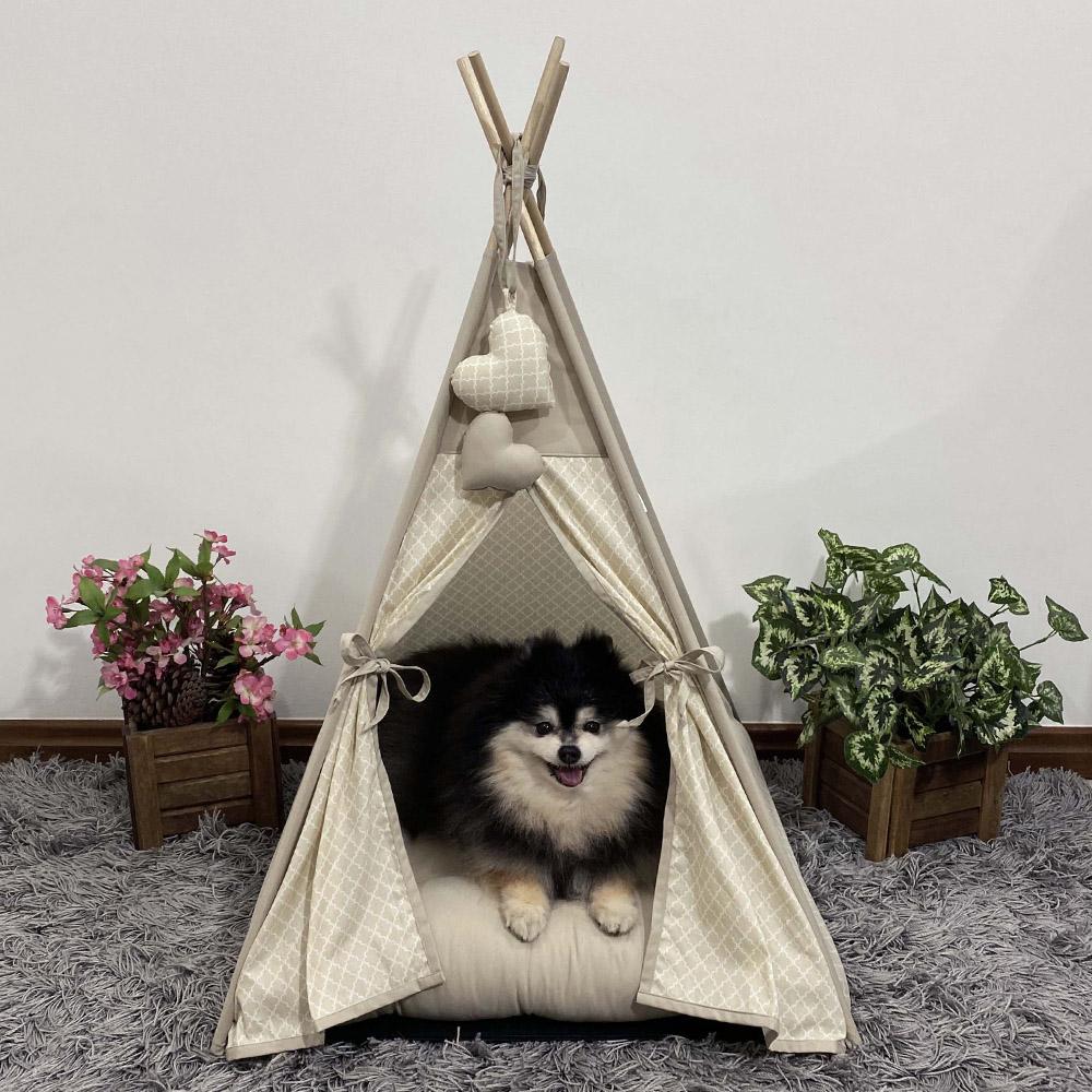 Cabana para Pet Camping - Imperial Caqui - Amour Pet