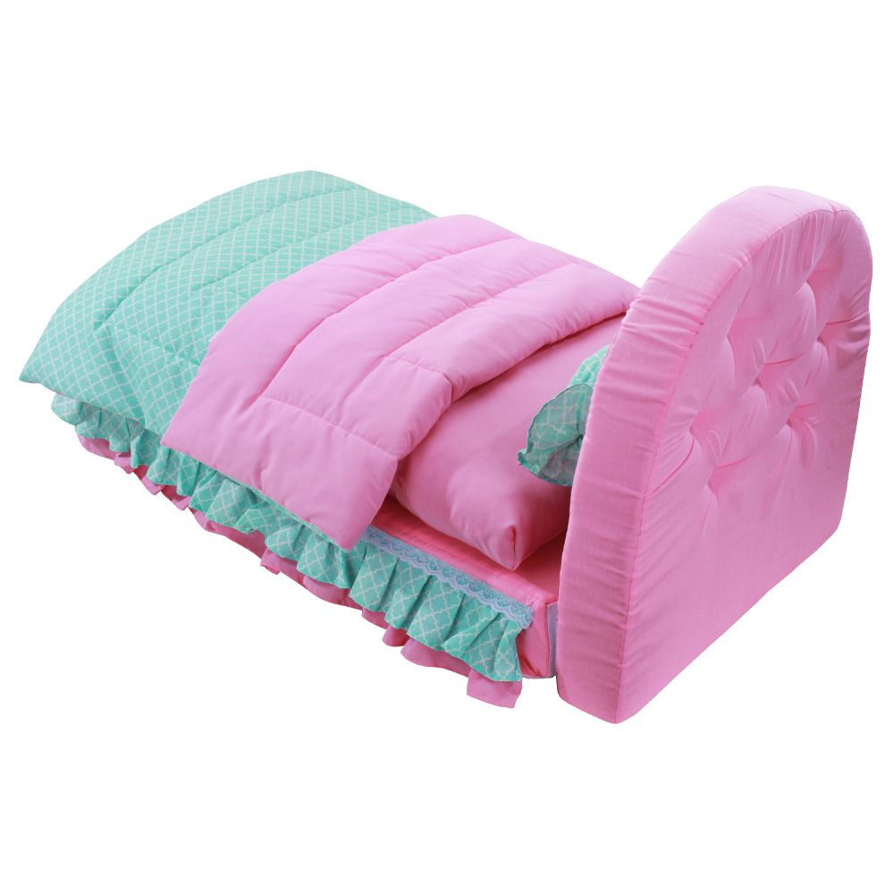 Cama Box Pet - Imperial Rosa e Tifany - Tamanho Único