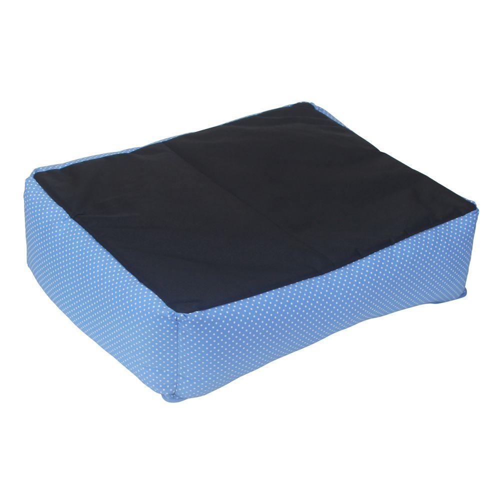 Cama Retangular Carinhosa - Azul e Verde - Tam M