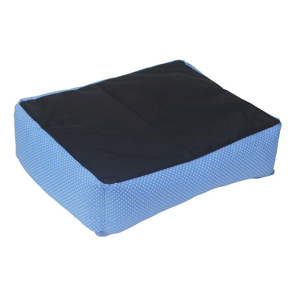 Cama Retangular Carinhosa - Azul - Tam M