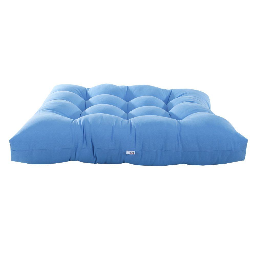 Colchonete Futon Pet Quadrado - Azul - Tam Único