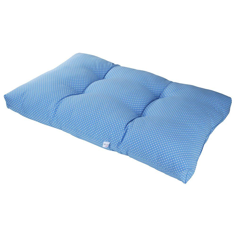 Colchonete Futon Pet Retangular - Azul Poá - Tam G