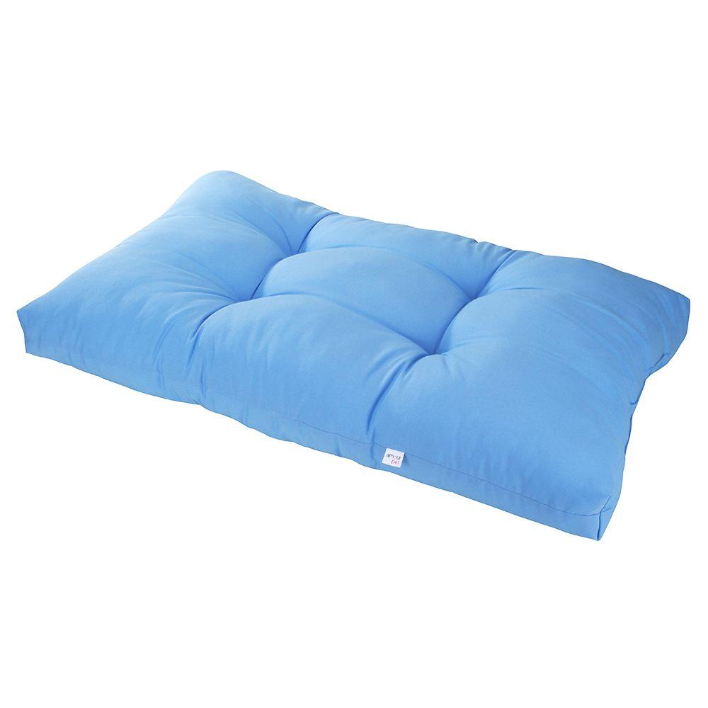 Colchonete Futon Pet Retangular - Azul - Tam M