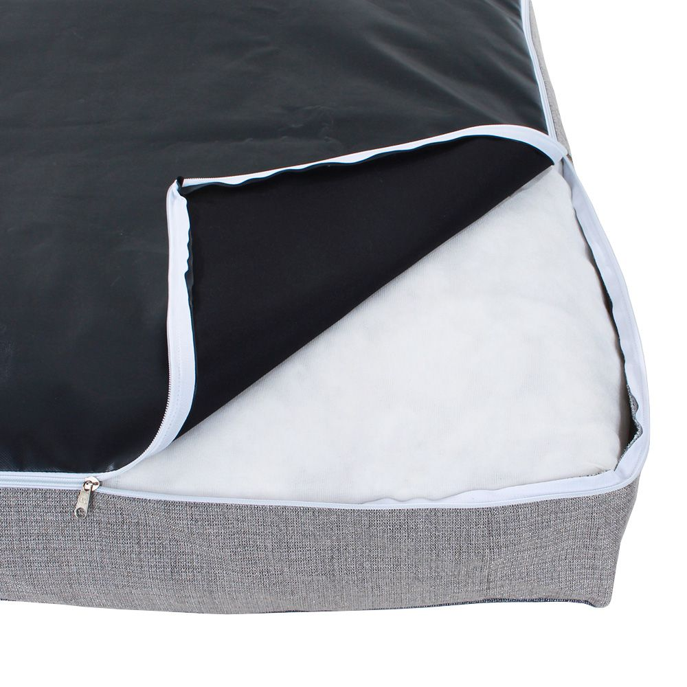 Colchonete Mega Pet - Jacquard Jeans e Cinza - Tam Único