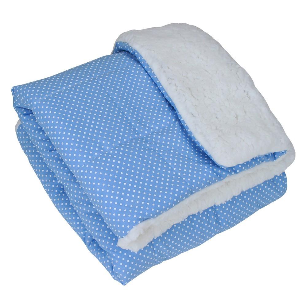 Edredom Fofura Carapinha - Azul Poá