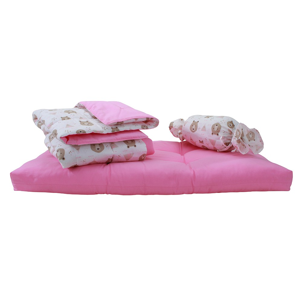 Kit Soneca Pet - Rosa e Ursos - Tam G