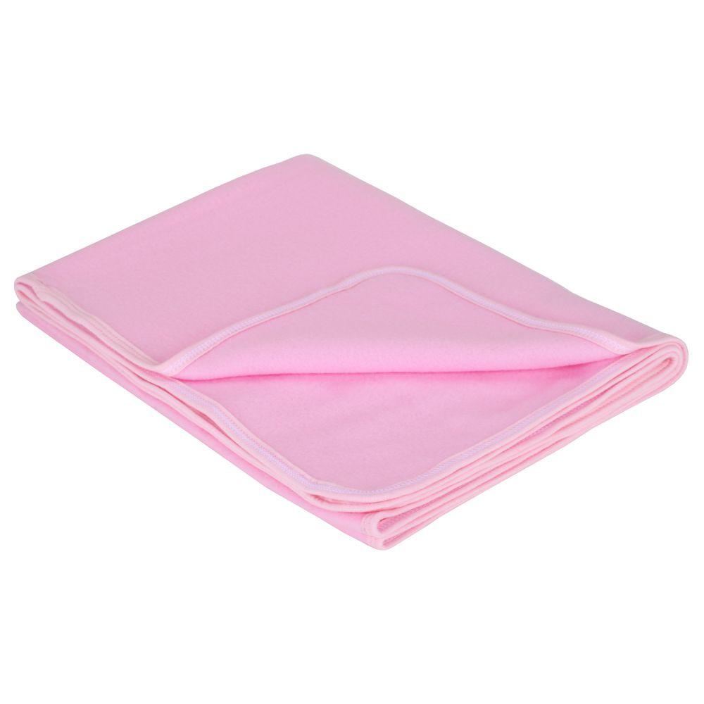 Manta em Soft - Rosa Claro - Tamanho Único