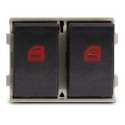 Botão Interruptor Vidro Eletrico Duplo Dianteiro Vw