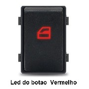 Botão Interruptor De Vidro Elétrico Gol G4 G5 G6 Fox Simples