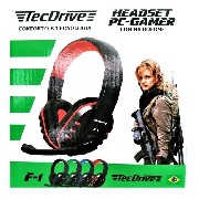 Fone Gamer Tecdrive Headset C/microfone Ps4/ Xbox One/pc F-1