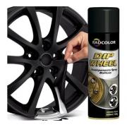 Kit 4 Spray De Envelopamento Líquido Dip Wheel 500ml Preto