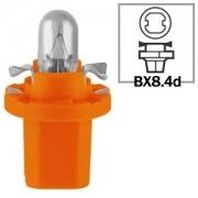 LAMPADA CONVENCIONAL 12V 12V 1,1W BX8.4D LARANJA MINIATURA BASE PLASTICA T5 UNIVERSAL HELLA