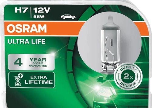 Par Lampadas Farol Osram H7 Ultra Life 55w 12v 3200k