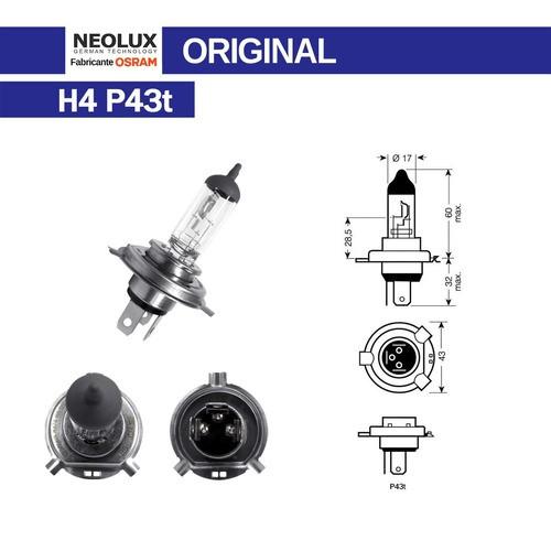 Lâmpada Halogena Farol Osram Neolux H4 12v 60/55w