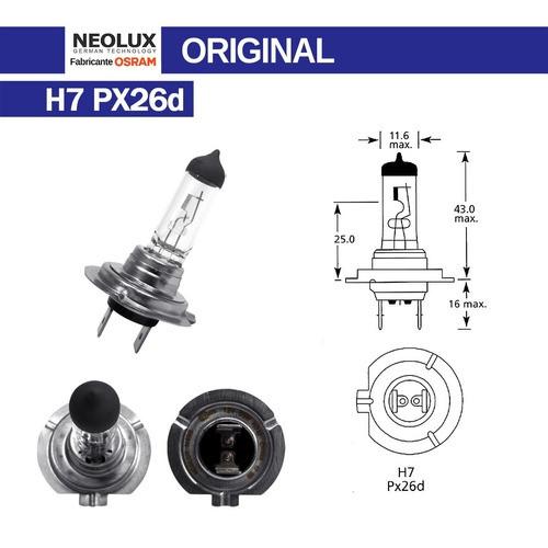 Lâmpada Halogenas Farol Osram Neolux H7 12v 55w