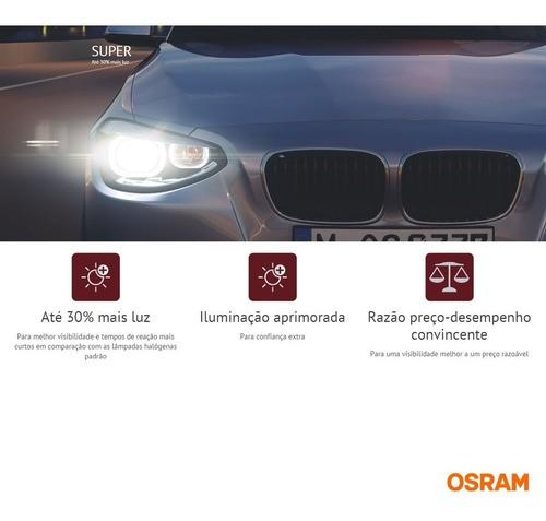 Lampada Farol Universal H1 Super 12v 55w (30%) Super Osram
