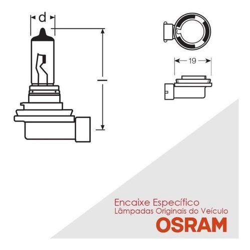 Lâmpada H11 Farol Milha Neblina Auxiliar Osram Original 55w