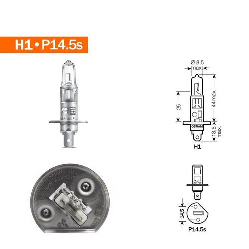 Lâmpada H1 Original Osram Farol Halogena 12v 55w