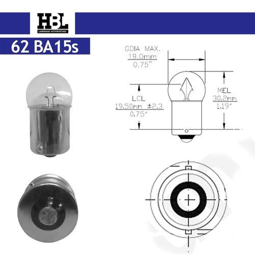 Lâmpada Placa De Licença Hbl 67 G18 12v 10w 10 Pçs