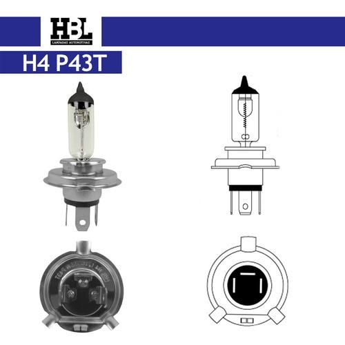 Lâmpada H4 12v 60/55w Bi-iodo Cod. 7412 Hbl