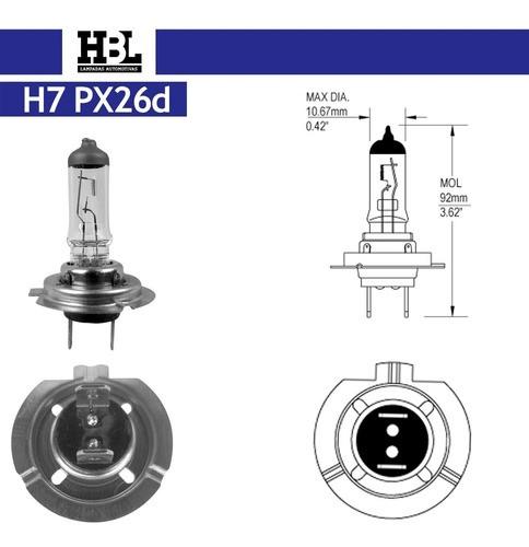 Lâmpada Farol H7 12v 55w Bi-iodo Cod. 7711 Hbl