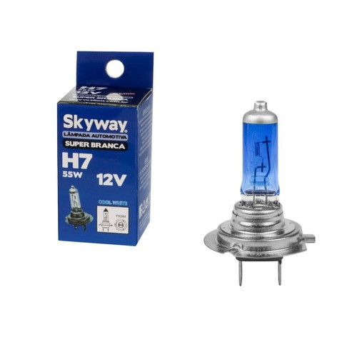 Lâmpada Farol Skyway H7 Super Branca 4200k 55w 12v