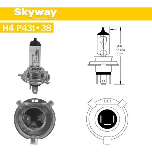 Lâmpada Para Farol H4 Universal 12v 60/55w