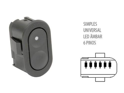 Botão Interruptor Vidro Elétrico Gm Simples